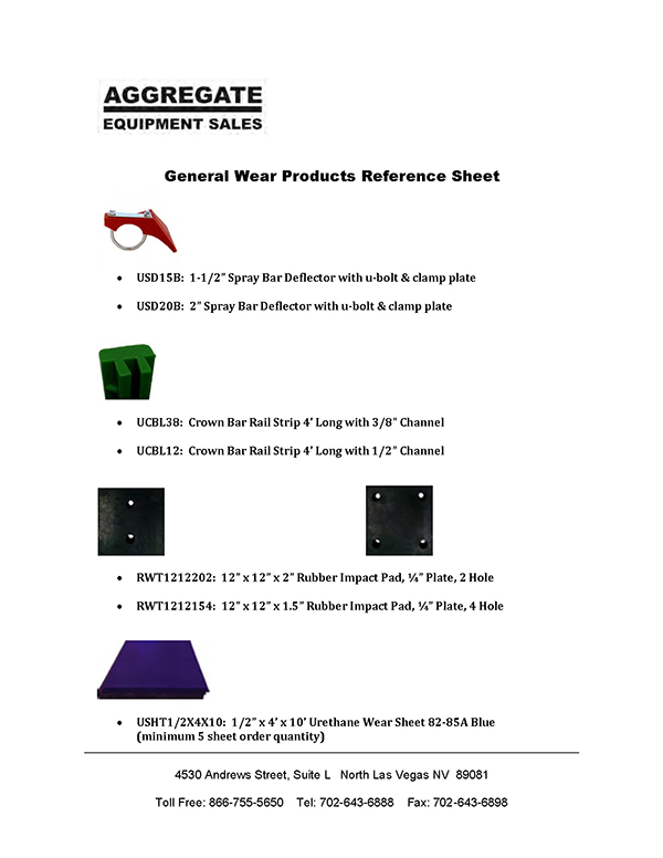 Wear Products Reference